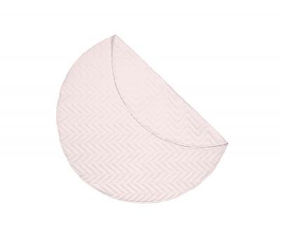Round zigzag stitch rug
