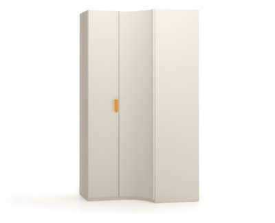 Corner wardrobe with hinged doors