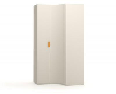 Corner wardrobe with hinged doors