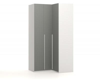 Corner wardrobe with folding doors