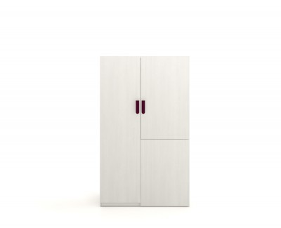 Wardrobe with hinged doors