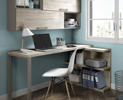 Desk with shelves