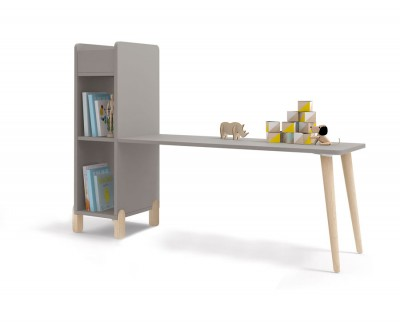 Children's desk with shelving unit