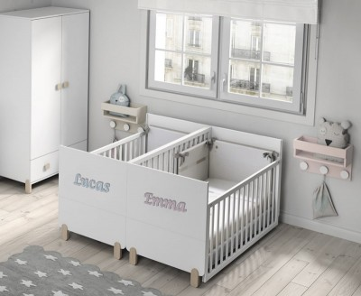 Wooden names for the twin convertible twin crib Duo Plus