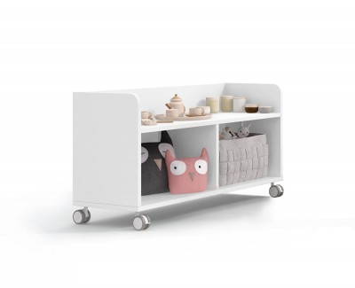 Shelving unit 2 spaces on casters