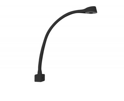 Flex lamp with USB port and front attachment
