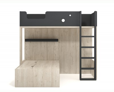 Bunk bed with 3 drawers
