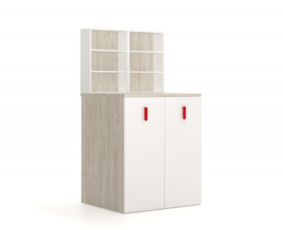 Wardrobe and pull-out desk