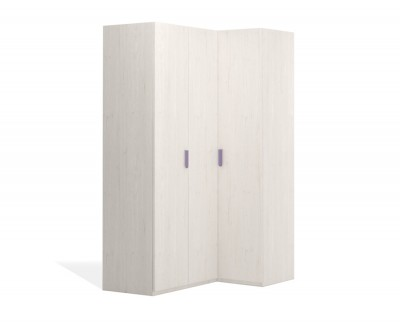 Corner wardrobe with folding doors
