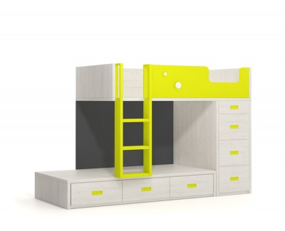 Bunk bed with 7 drawers