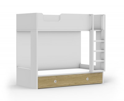 Bunk bed with pull-out bed