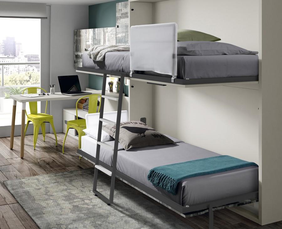 Horizontal Fold Away Bunk Bed Muebles Ros Unniq Habitat
